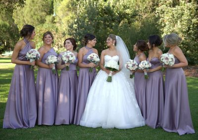 bridal party makeup and hair